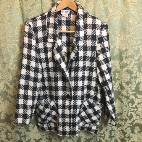 fe9ef7d47bb775 @thrifty0816. 10 months ago. Marlton, United States. Vintage black and white  checkered women's ...