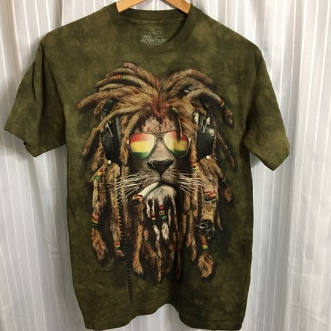 Depop Rasta Mountain Lion Made In Usa The Small 910 Shirt Size QrdhCts