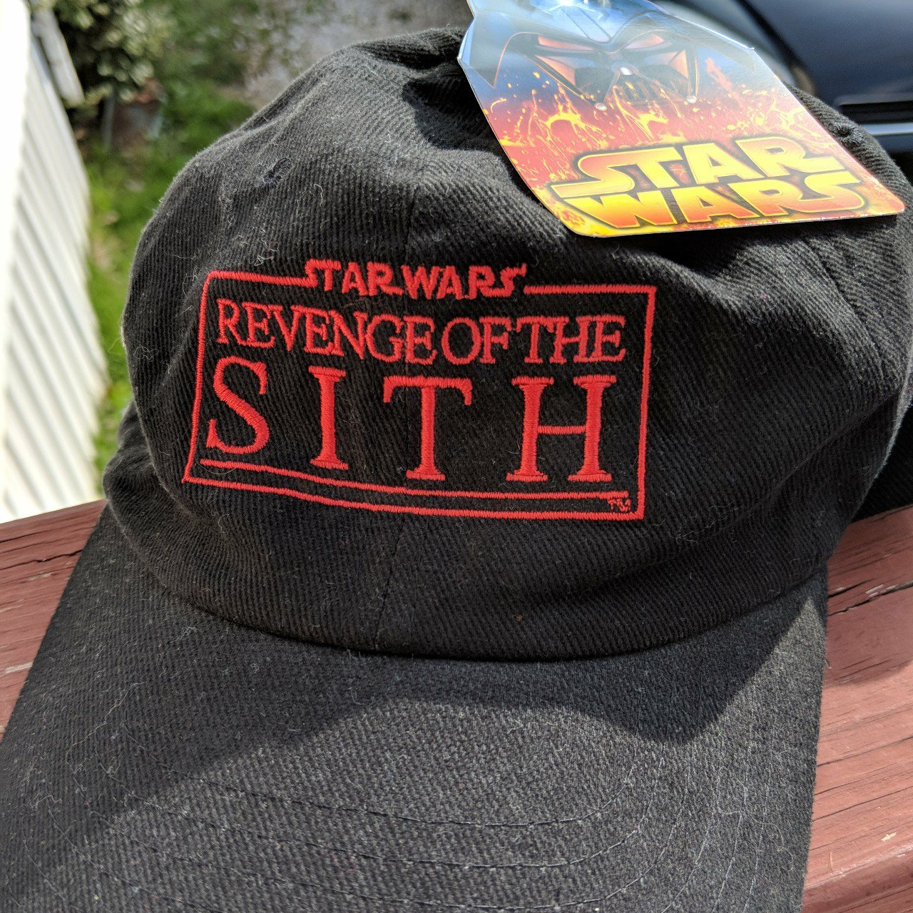 f5be1eedc43ab ... coupon code nwt deadstock star wars revenge of the sith dad hat with  red depop 28d12