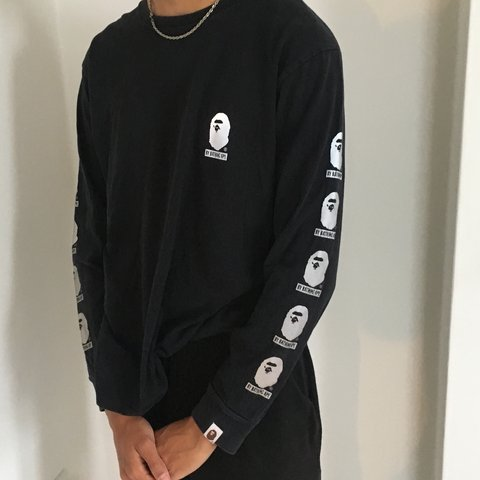 83f7d573f Bape Bathing Ape reflective 3M long sleeve . Good condition - Depop