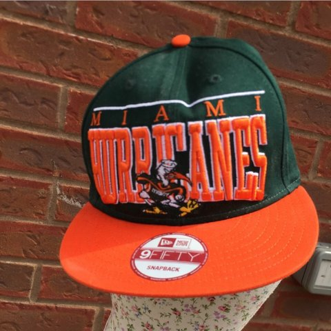 2950d995 Awesome Miami Hurricanes snap back new era , brand new with - Depop