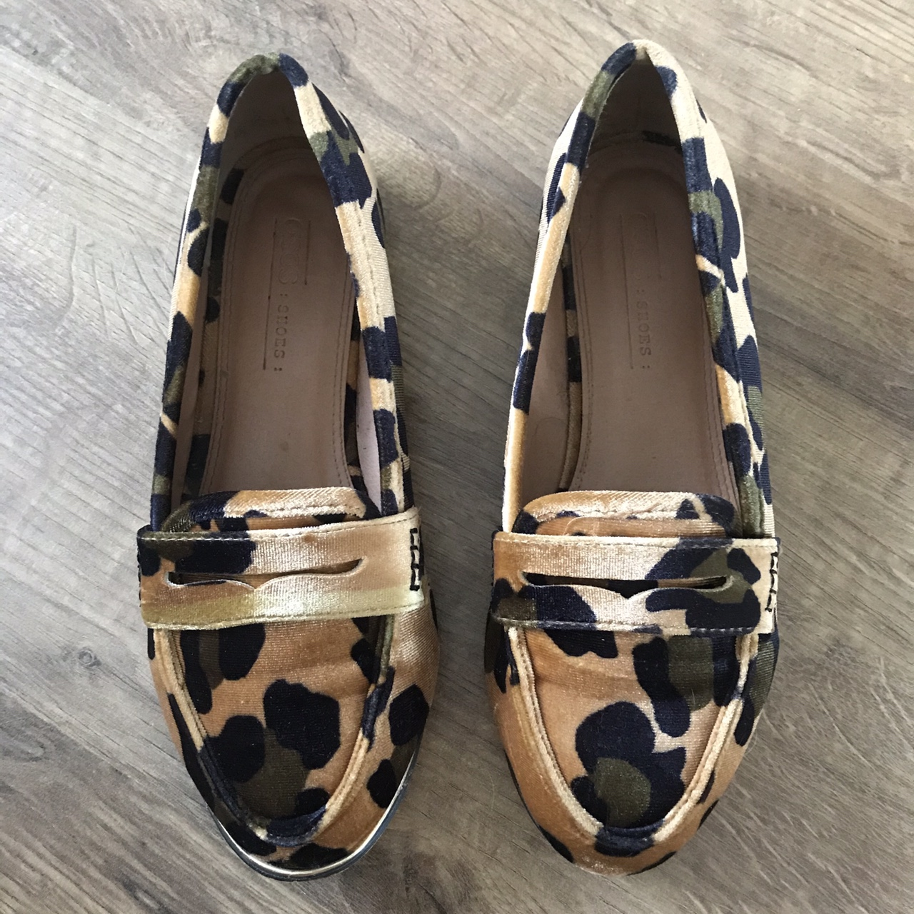 Asos leopard print loafers - Size 4