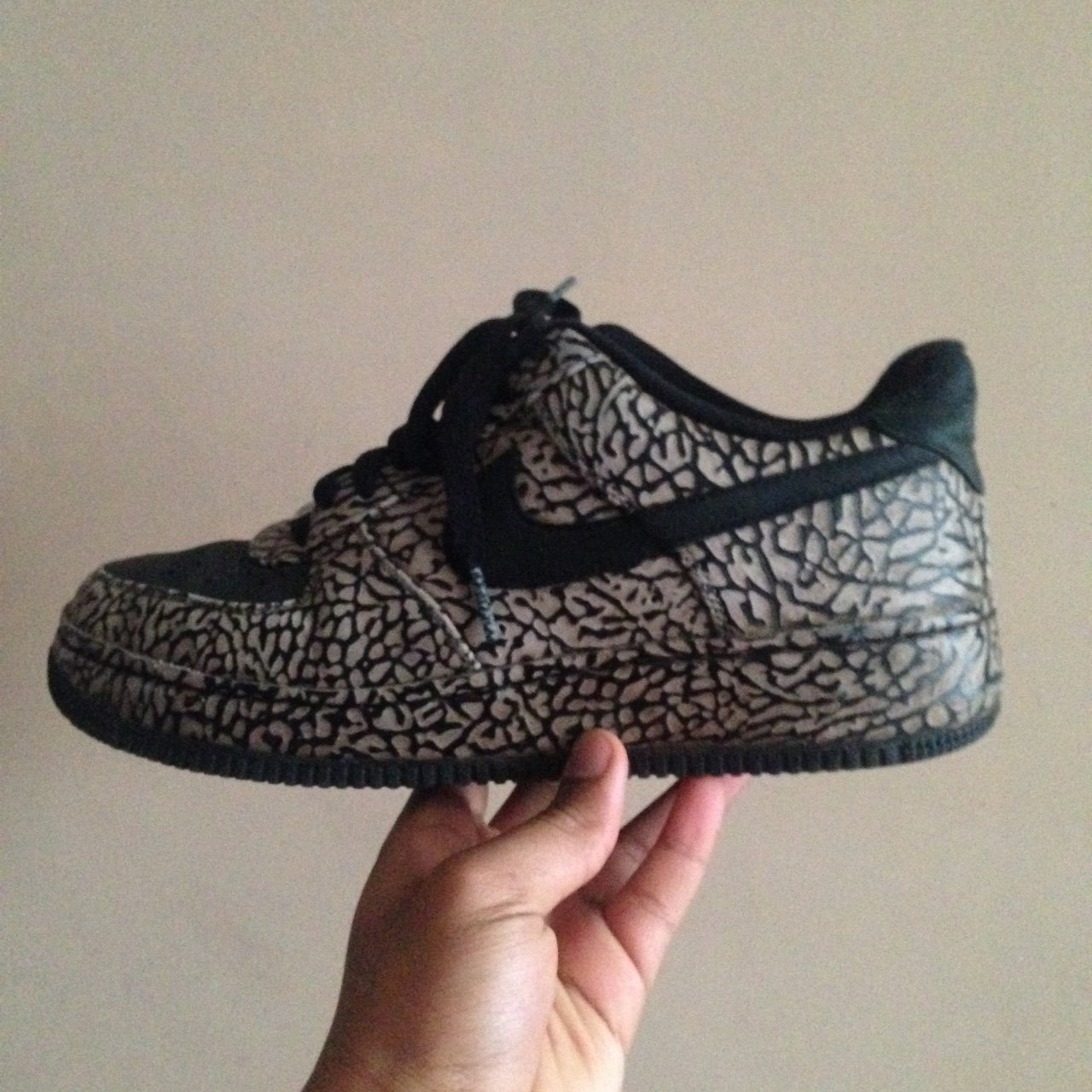 Nike Air Force 1 elephant print id- beat condition- size but - Depop 51637b85b