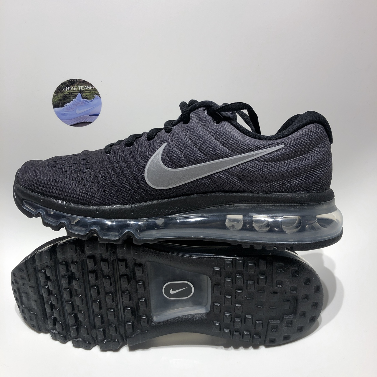 new styles 6aac2 a6427 Nike Air Max 2017(GS)Anthracite/Black/Metallic Size... - Depop