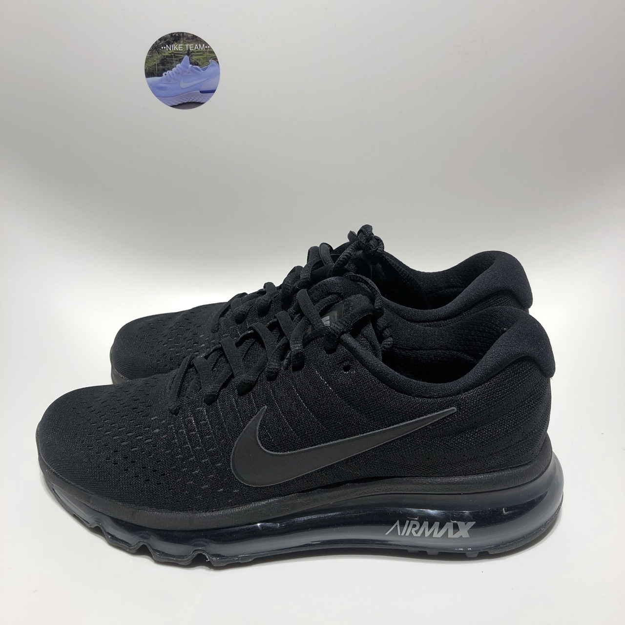 "brand new d49fd 28fcc Nike Air Max 2017 ""Triple Black"" 851622-004 New with... - Depop"