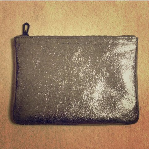 11a9387b757 MARC JACOBS FOR TARGET METALLIC LEATHER POUCH CLUTCH never - Depop