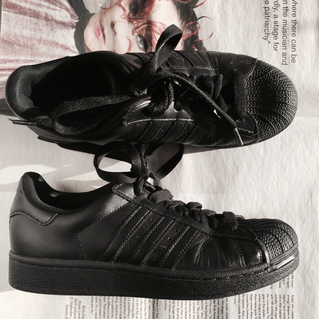 254e64b57861 Adidas superstars — black — size 38 EUR — good conditions - Depop