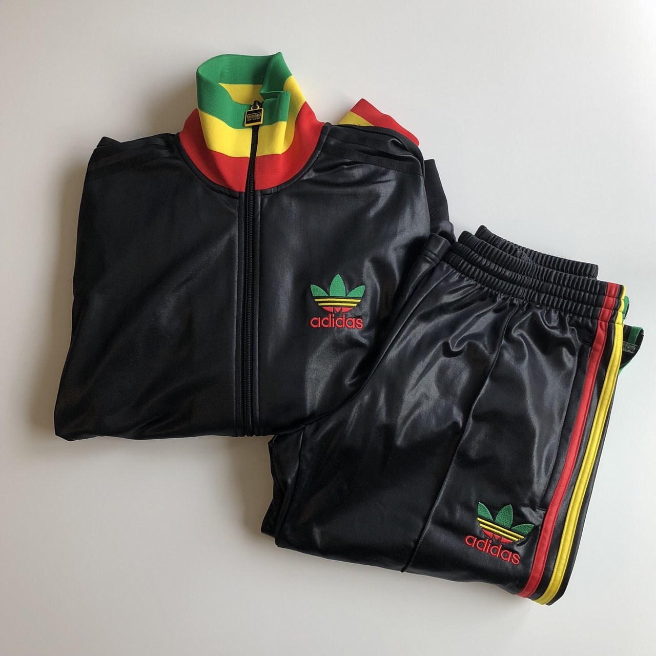 e2258a05c Unisex Unisex Chile Vintage Depop Adidas Matching Zip Rasta 62 Trackpants  wrvwREAq