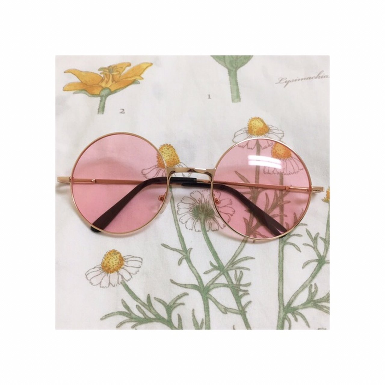 e6e1307fbc5 Round rose colored circle sunglasses!