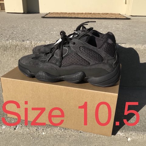 e7715cf3fb754 Adidas Yeezy 500 Men size 10.5 Utility Black Only offers - Depop