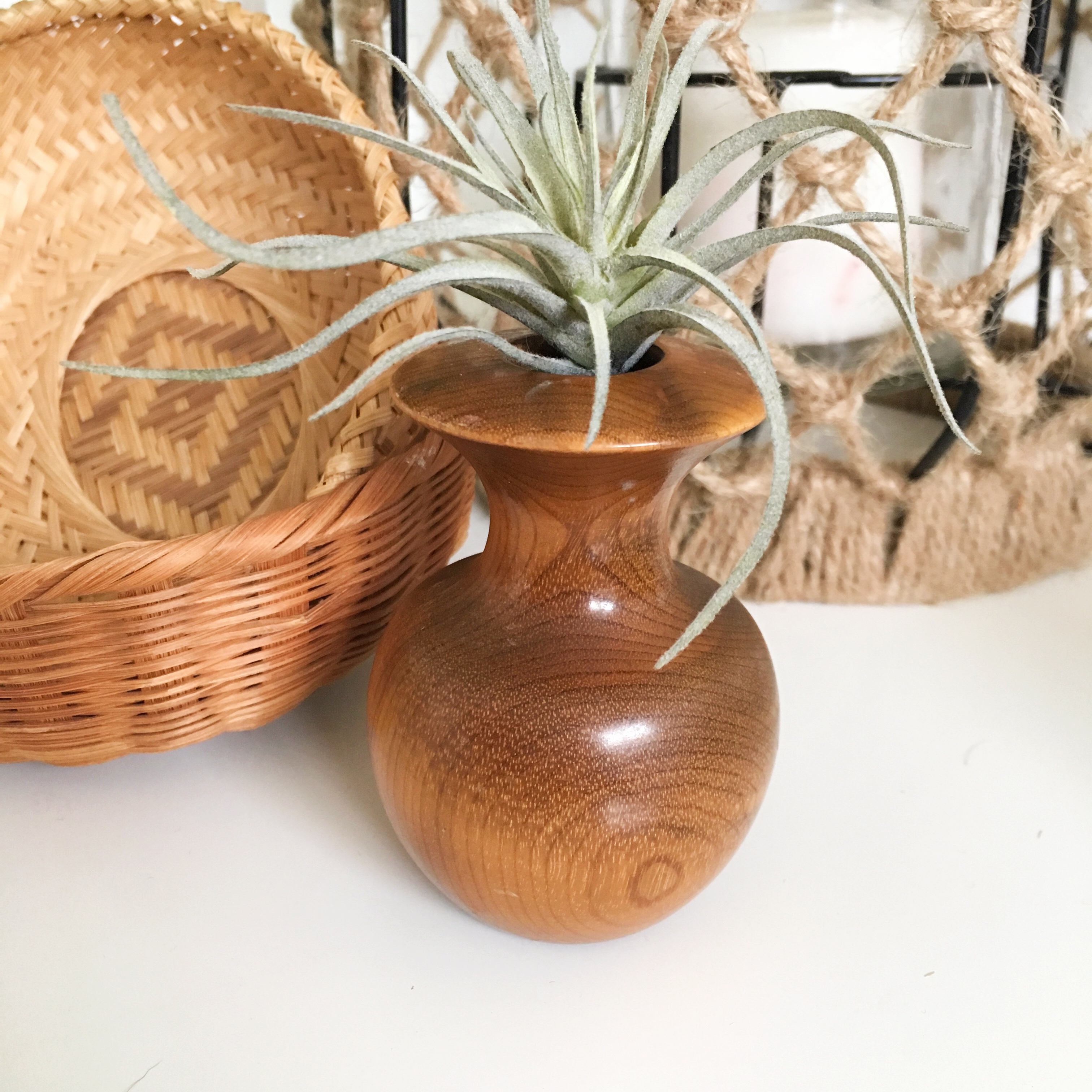 Mini Wooden Vase 3 Tall Great Condition Depop