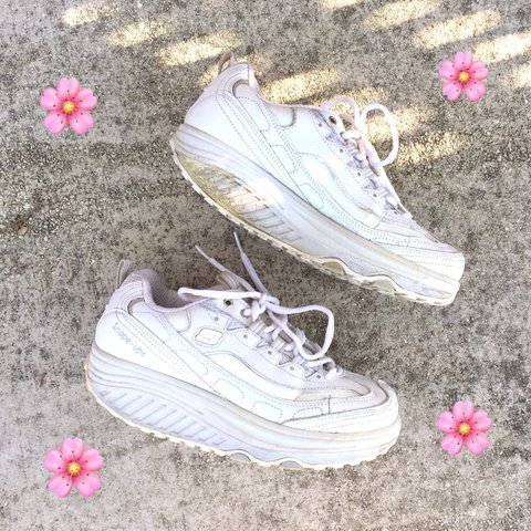 5f58313d4998 Used Skechers Shape Ups. The platform on these shoes are 1 a - Depop