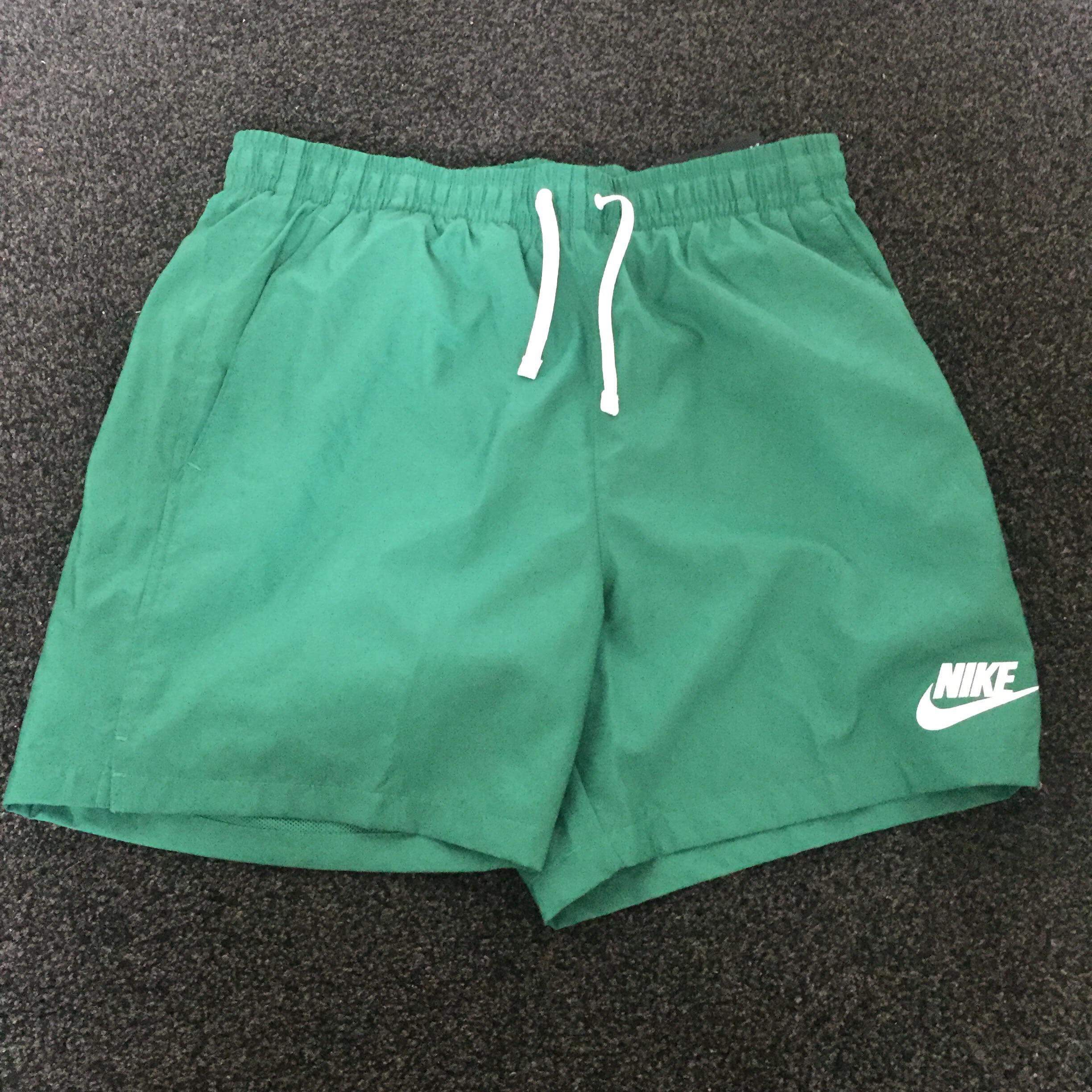 Men's Nike woven shorts in green! Perfect for... - Depop