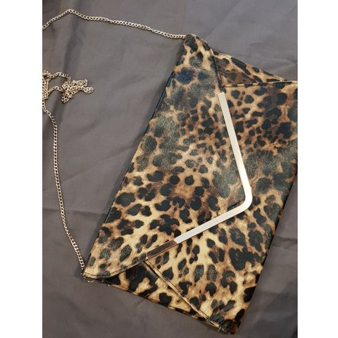 6f2fcb671035 @amyjoanne_91. last year. Portsmouth, Portsmouth, United Kingdom. New Look Leopard  Print Envelope Clutch ...