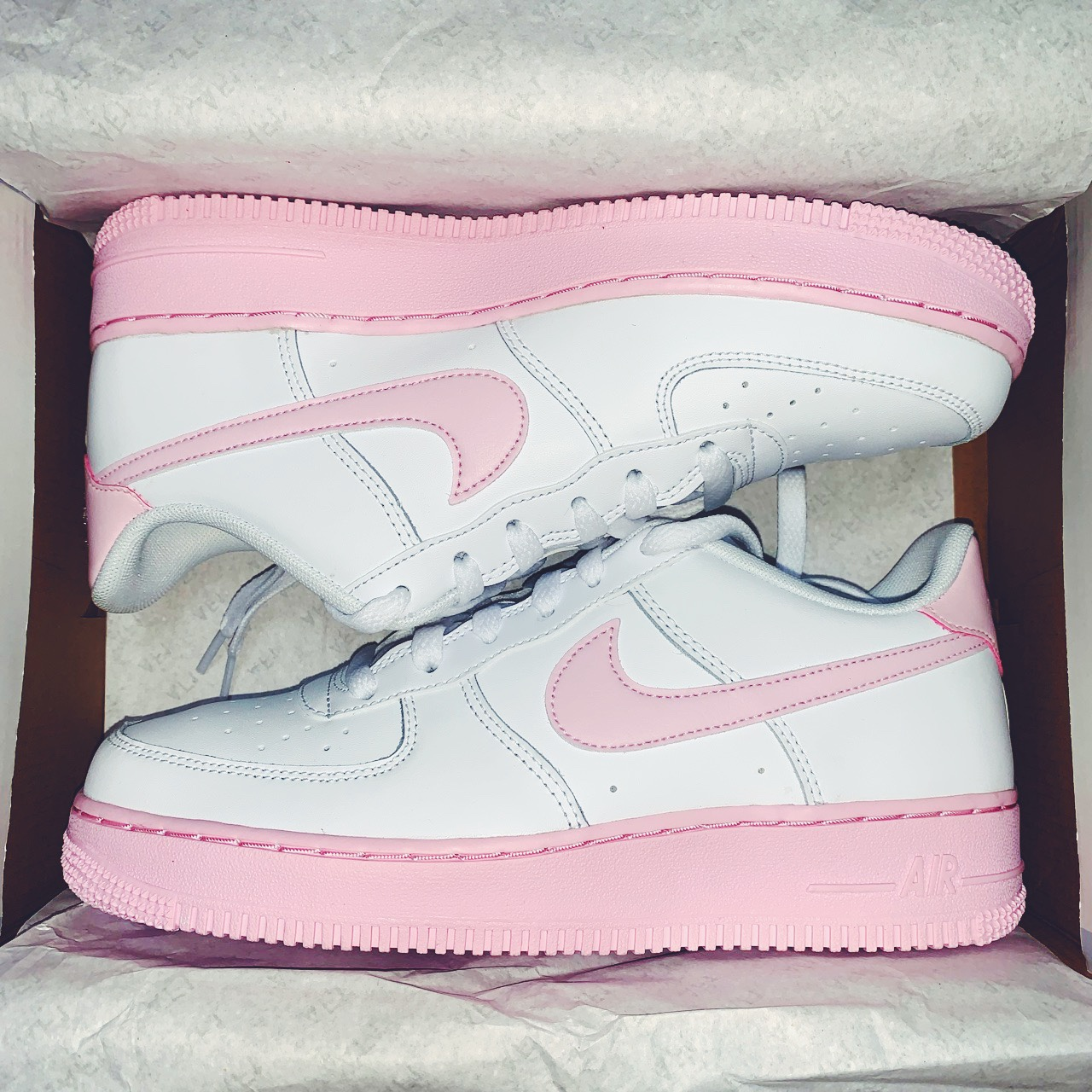 NIKE white Air Force 1 trainers with