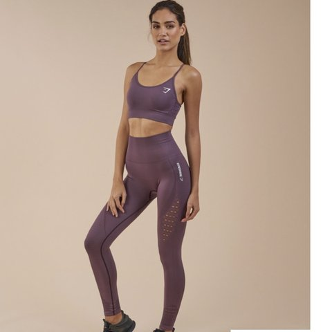 5f1d2c8de2ab0 @tara123n. 6 months ago. Bath, United Kingdom. Gymshark XS purple energy  seamless leggings.