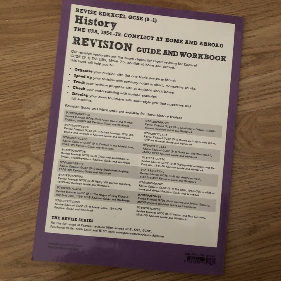 Edexcel history the USA,1954-75 conflict at home and    - Depop