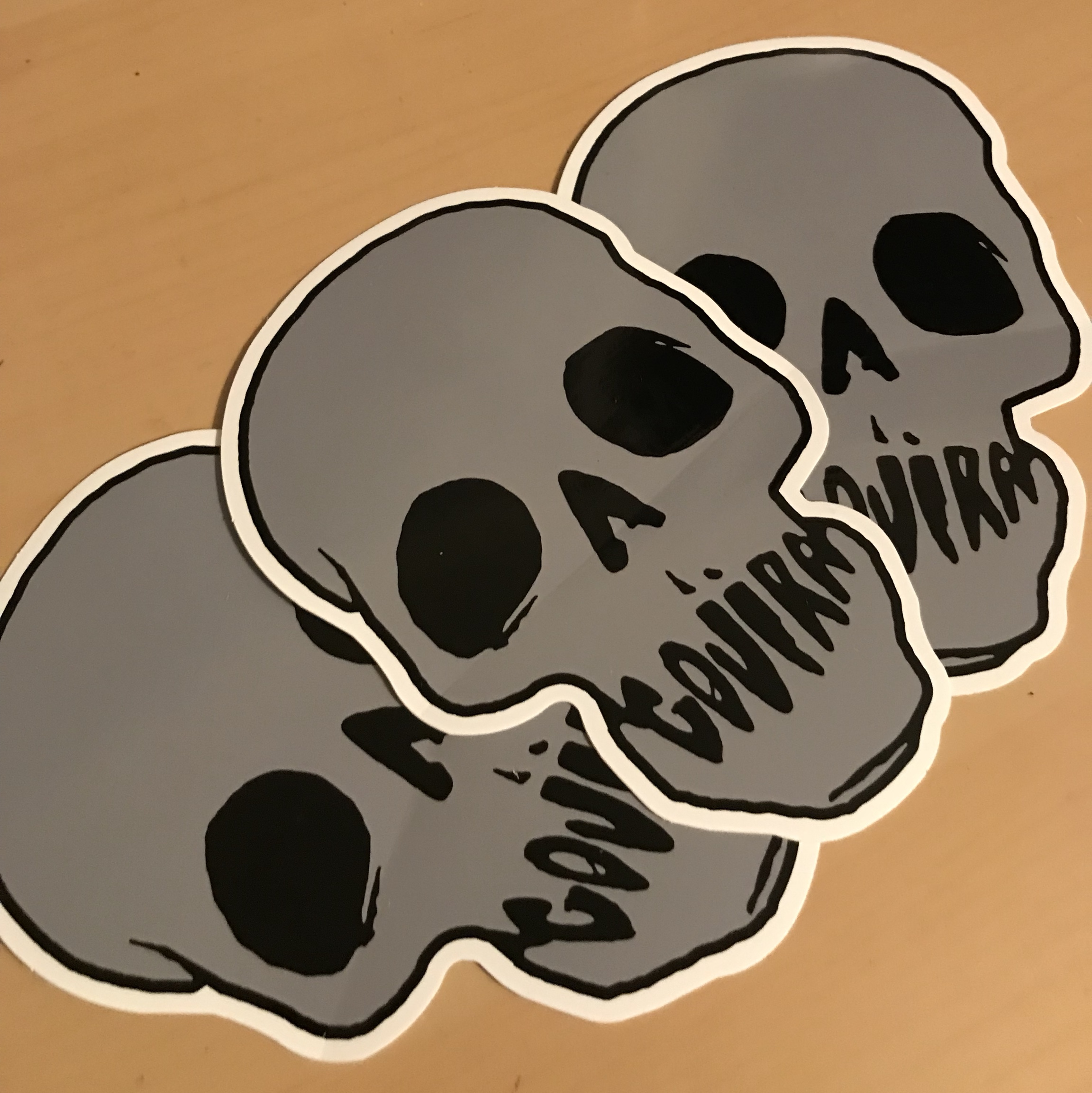 Gojira Gray Skull Sticker $2 For 3 Shipping Is Free - Depop