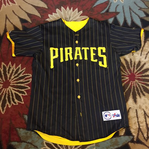 1f4350cea Vintage Pittsburgh Pirates Reversible MLB Majestic Jersey - - Depop