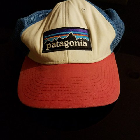 5d6b59c9aae49 Vintage Patagonia Red white and blue snapback in 8 10 Still - Depop