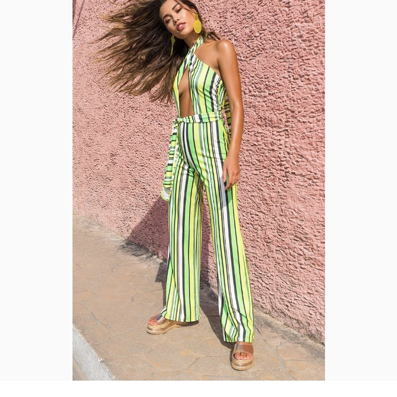 990c9add31 Pretty little thing stripe jumpsuit