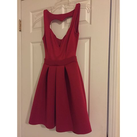 e76d608bc46d Beautiful red cupcake dress from Charlotte Russe. Worn once - Depop