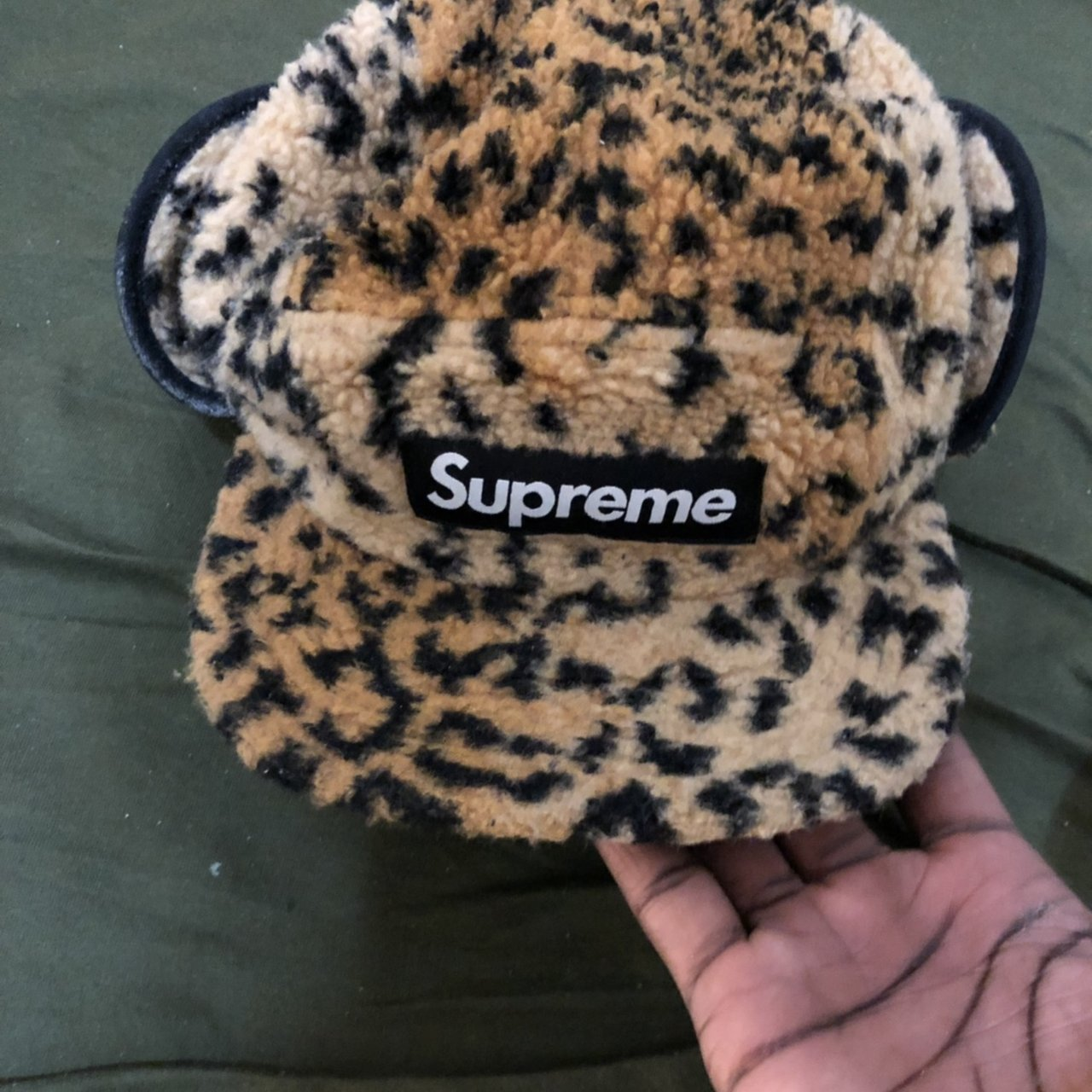 603564915a4 Supreme Leopard winter hat. Bought last year SS18 for the to - Depop