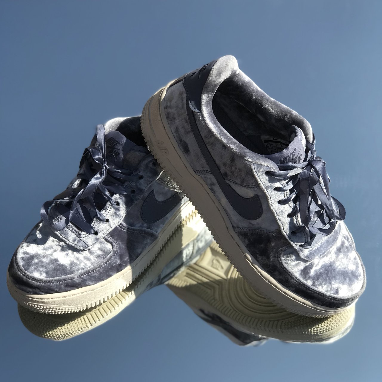 separation shoes e2520 5164d  kailanipee. last year. United States. Nike Air Force 1, dark sky blue  crushed velvet,