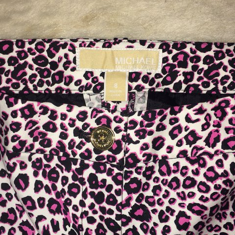 4ad40f24529c @champagne_chic. last year. West Valley City, United States. Michael Kors  Pink Black Leopard Print