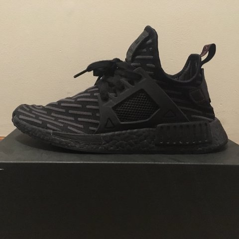 dc47f281e 👟triple black NMD XR1👟used but 9 10 condition👟Size me any - Depop