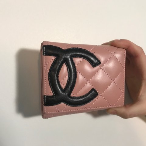 5acd12feec92 This authentic Chanel wallet has us dead! Pink leather with - Depop