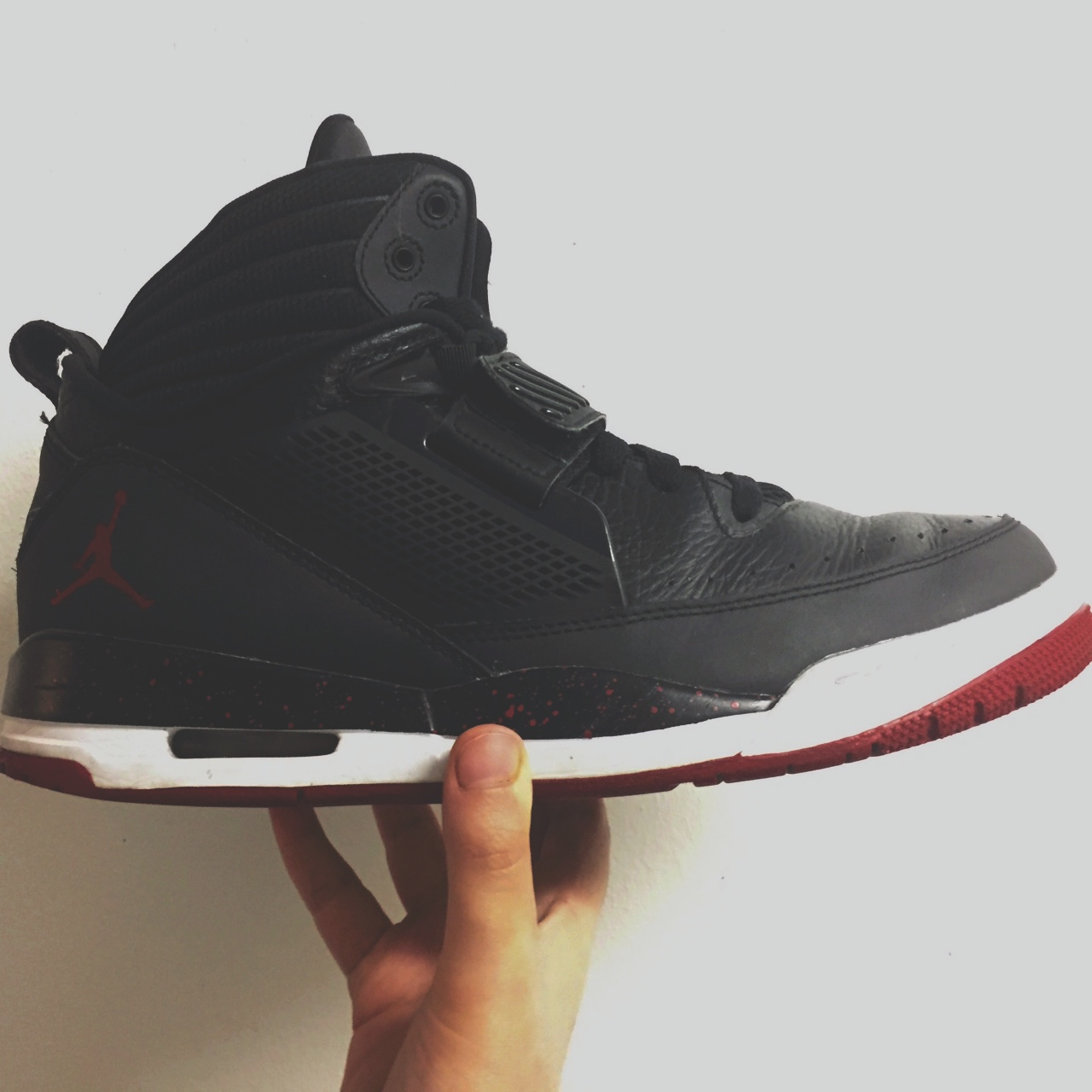 meilleures baskets 2a51f b8ccb Nike Air Jordan Flight 97 Bred in black and red.... - Depop
