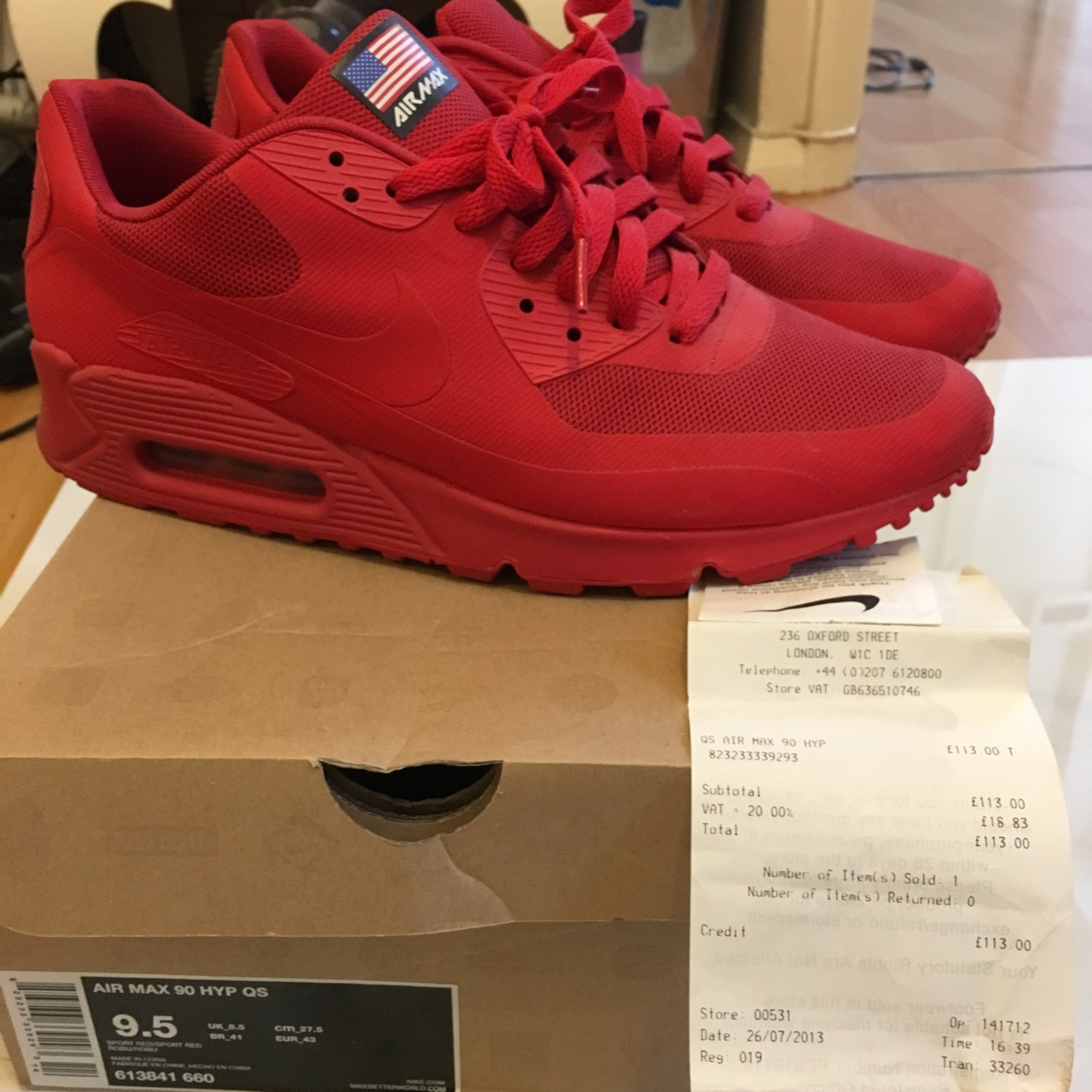 AIR MAX 90 HYPERFUSE 'INDEPENDENCE DAY' RED. Depop
