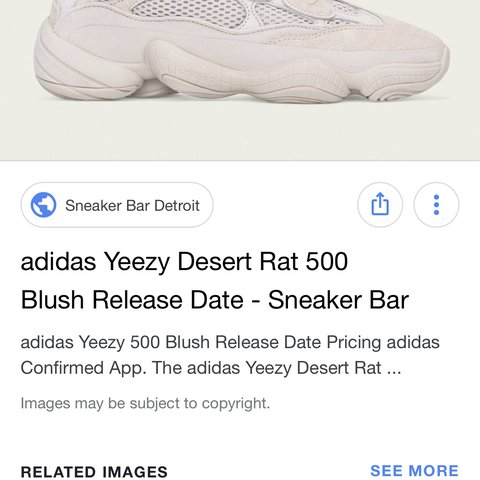 b7948fdc19c Yeezy desert rat 500 blush proxy Message me offers - Depop
