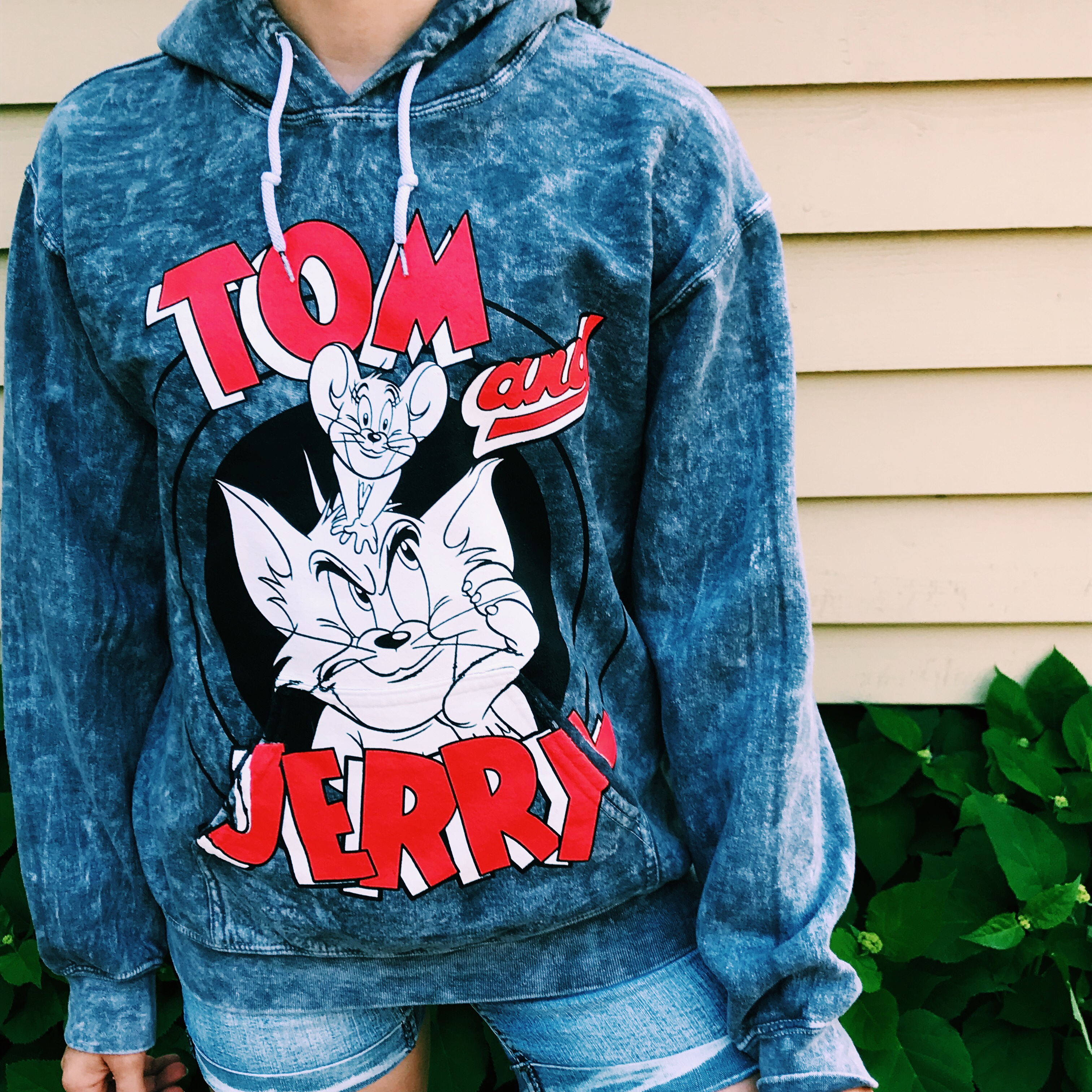 Only worn once Tom and Jerry hoodie! Really fun and    - Depop