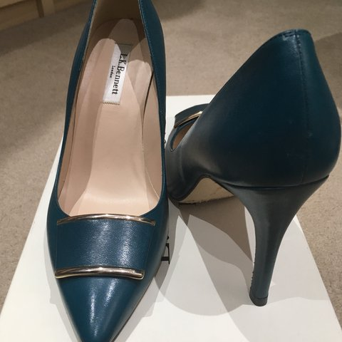 0fb834928f5 Brand new LK Bennett petrol blue heels pumps size 39- as - - Depop