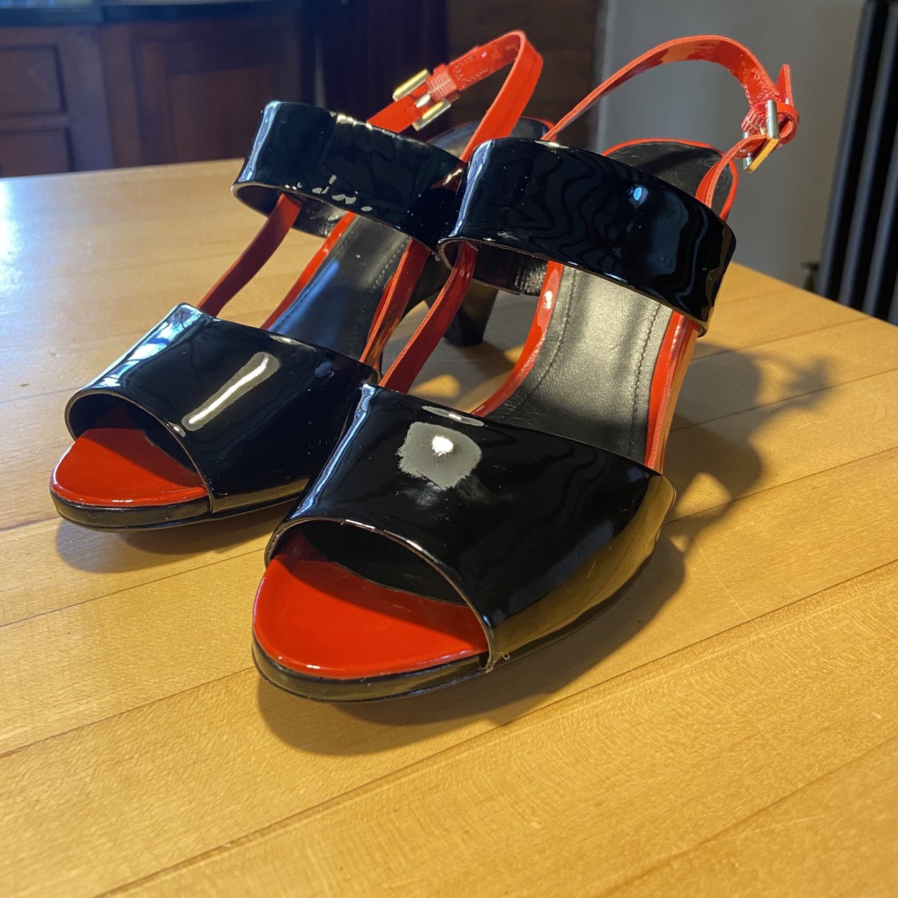 Clarks Patent Leather Sling Back