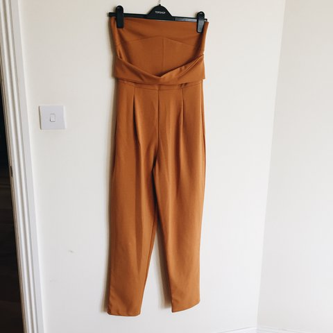 c1a62b40c28 Boohoo mustard yellow strapless jumpsuit. Perfect condition