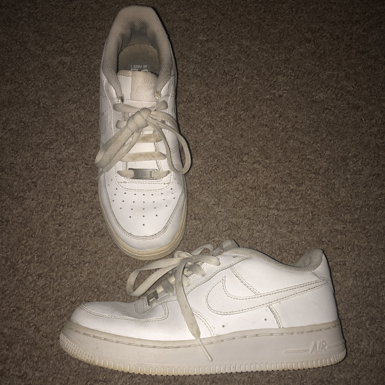 WITH NEW LACES WOULD LOOK CLEAN NIKE AIR FORCE 1 Depop