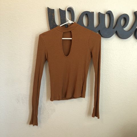 1e32c5224ed3f4 @hhwnicole. 11 months ago. United States. burnt orange ribbed crop top from forever  21 ...