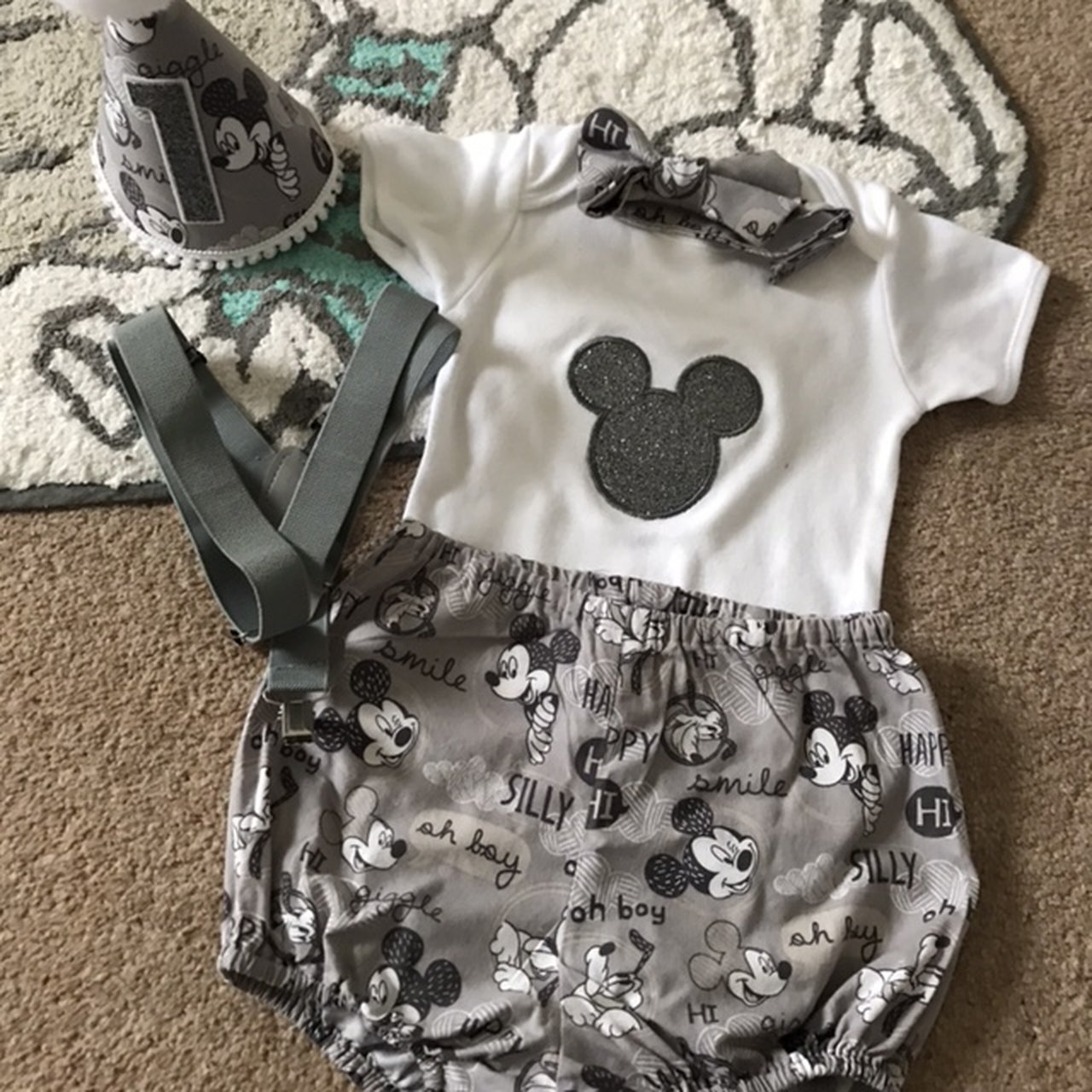 Sammisld 6 Months Ago Newark United Kingdom Mickey Mouse Cake Smash Outfit 1st Birthday