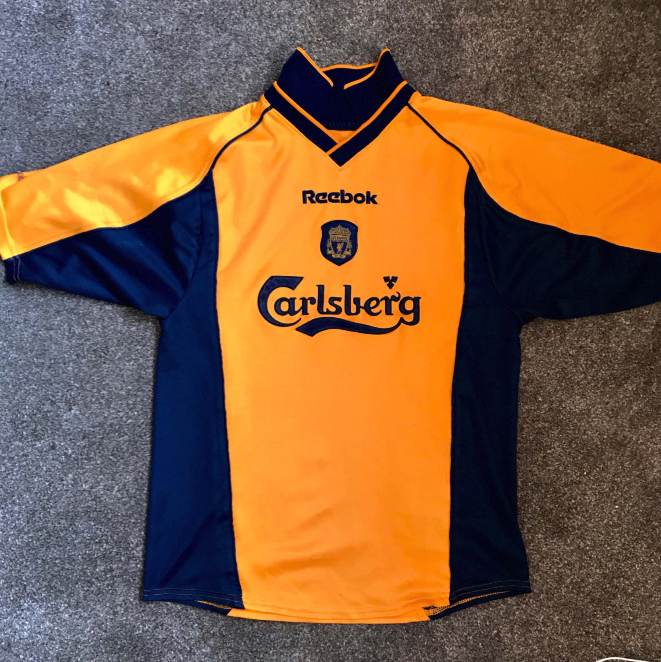 the latest 26ed3 c11f5 Liverpool F.C. kit - vintage 2001/02 third away... - Depop