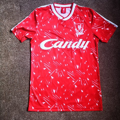 625ac391978 Liverpool FC retro 89 90 home kit Official club condition - - Depop