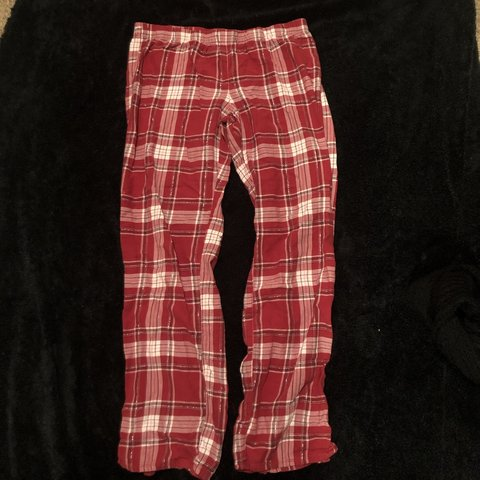 35bcdf68c09 Red and white plaid sparkly pj pants. Super soft and comfy. - Depop