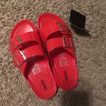 3d71a69d0661 Forever 21 Clear Jelly Slides NEVER WORN Size 10 but fits a - Depop