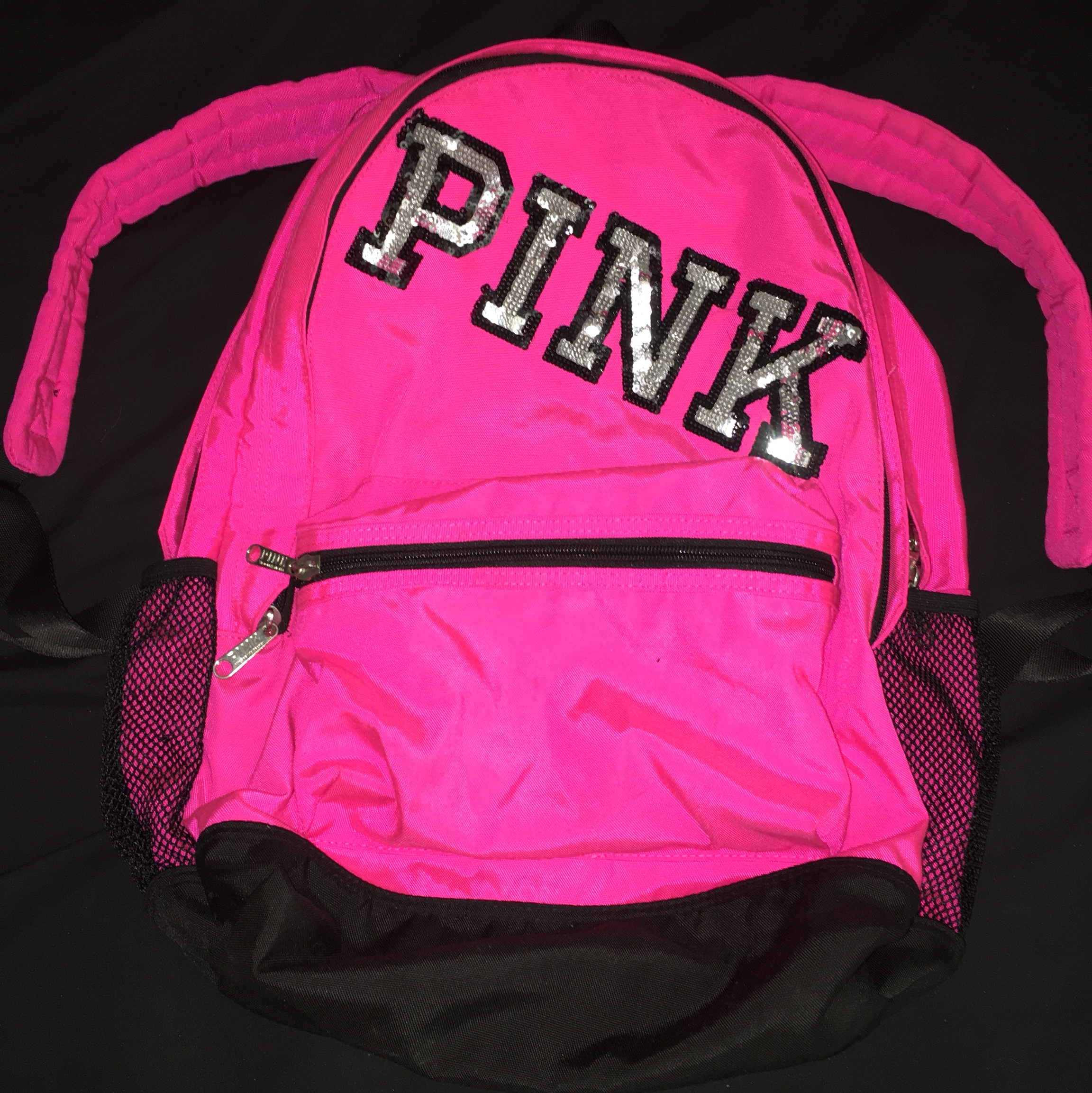 02d5beda0a2e3 Victoria Secret PINK backpack Bright pink with... - Depop