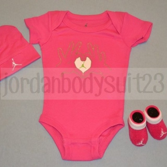 34ac6d8f6a9 @jordanbodysuit23. 5 years ago. Spring Grove, IL, USA. NIKE AIR JORDAN Baby  Infant Girl Bodysuit ...