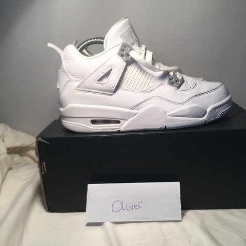 d895b0e183ee54 Air Jordan 4 retro (pure money) 9 10 condition light on as - Depop