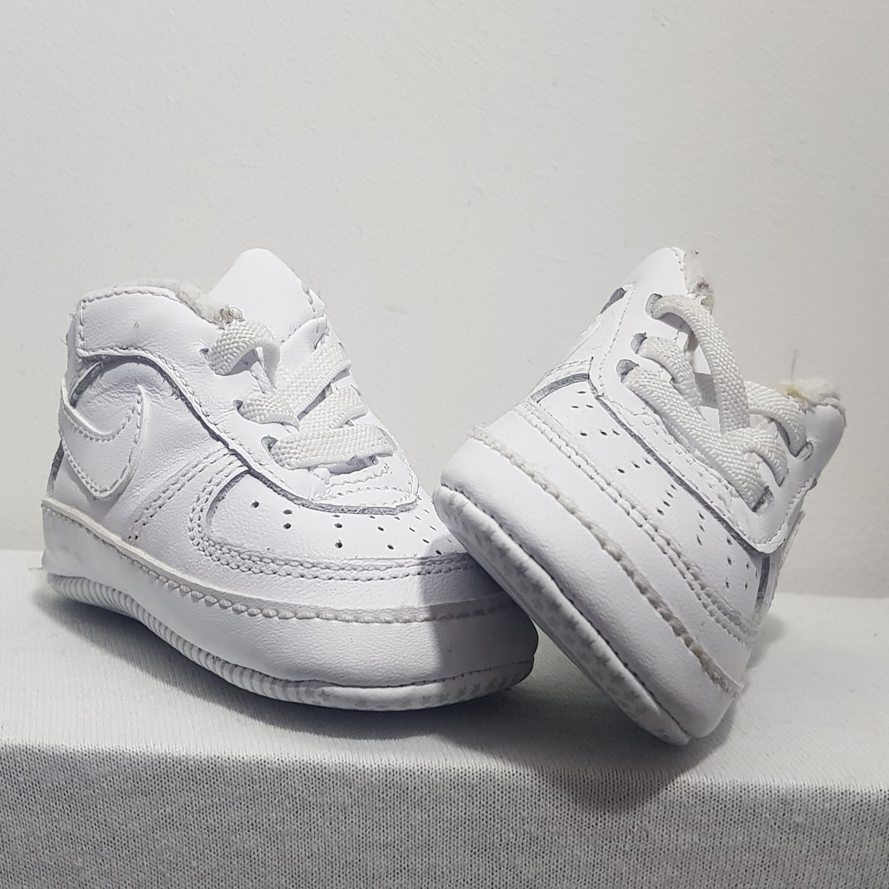 Baby soft bottom Nike Air Force 1s in