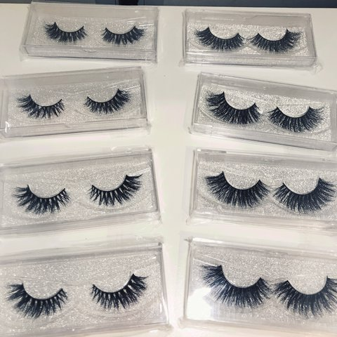7b609ae147b MINK LASH BUNDLE ✨ Fluffy Wispy Lashes Left Row (Less Row - Depop